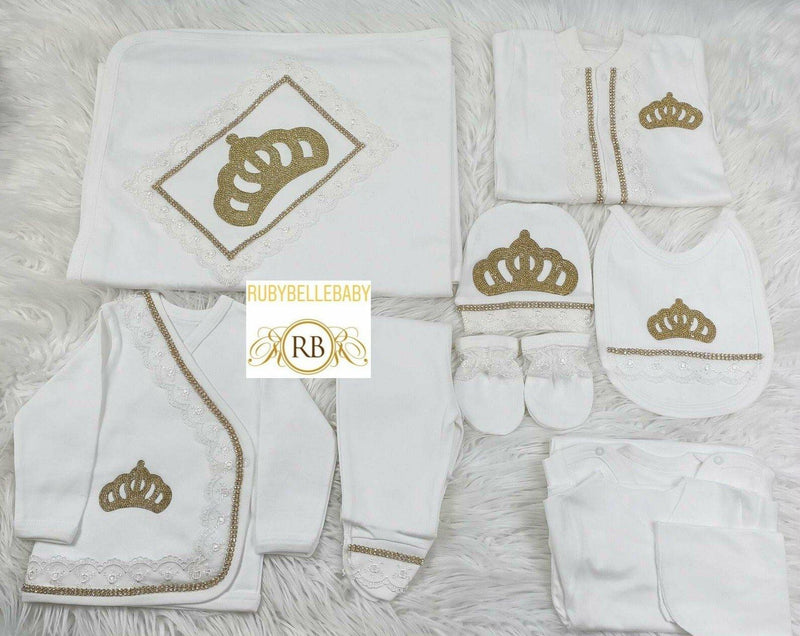 10pcs Princess Set - Gold - RUBYBELLEBABY