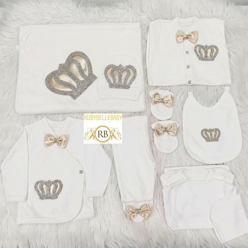 10pcs Royal Crown Set - Beige - RUBYBELLEBABY