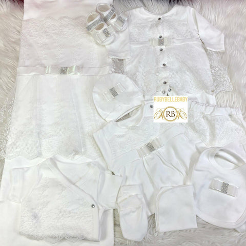 NEW COLLECTION Rubybellebaby 10pcs Precious Princess Set - White - RUBYBELLEBABY