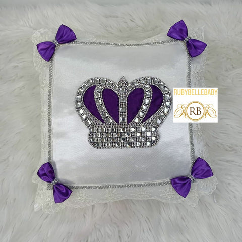 HRH Crown Pillow - Purple