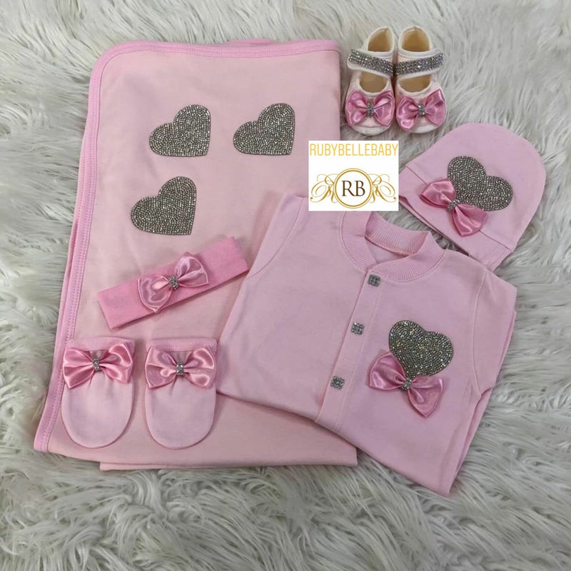 6pcs Heart Design Set - Pink