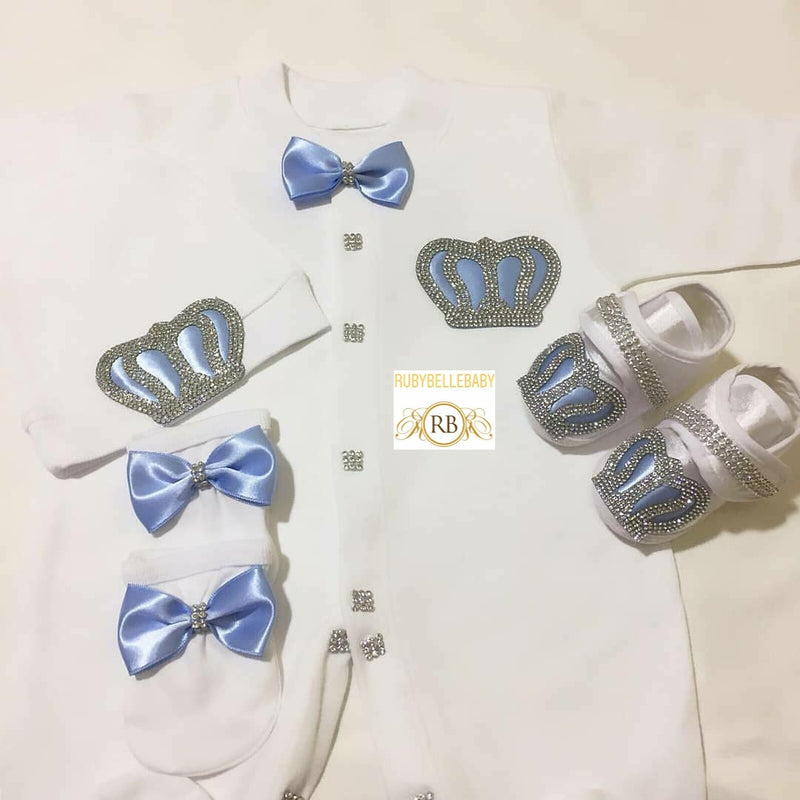 4pcs Prince Crown Set - Light Blue
