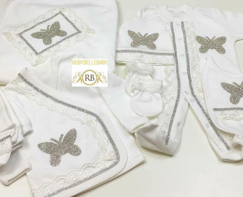 10pcs Butterfly Set - White - RUBYBELLEBABY