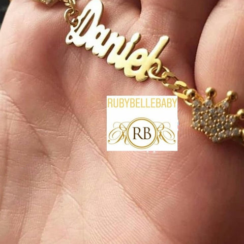 18carat Gold Plated Personalized Custom Bracelet (Handchain)
