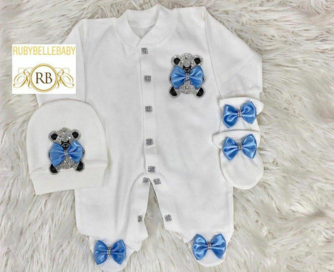 3pcs Teddy Set - Blue