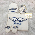 4pcs Angel Wings Embriodery Set - Blue