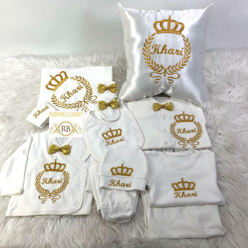 11pcs Embriodery Crown Set - Gold - RUBYBELLEBABY