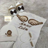 3pcs Prince Embroidery + Angel Wing and Lion Set