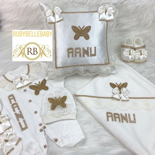 6pcs Butterfly Set - Gold - RUBYBELLEBABY