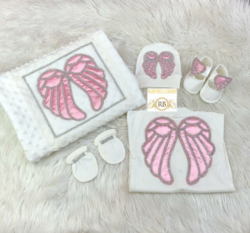5pcs Wings set - Pink/Silver