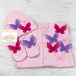 3pcs Tri Butterfly Princess Set - Pink