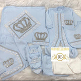 Rubybellebaby 10pcs HRH Crown Set - Light Blue
