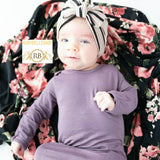 Black Floral Swaddle Organic Newborn Infant Baby Soft High Quality Swaddle and Hat Set