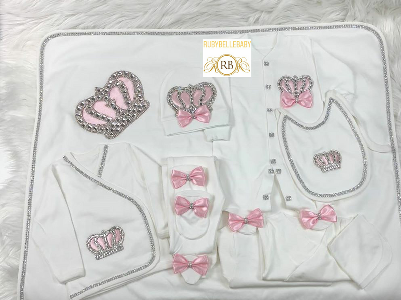 10pcs HRH Crown Set - Pink - RUBYBELLEBABY