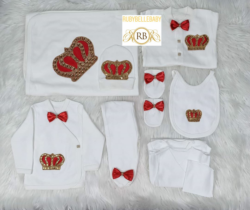 10pcs HRH Crown Set - Red/Gold