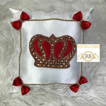 Bling Bling HRH Crown Baby Pillow - Red/Gold