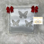 Bling Bling Butterfly Design Baby Pillow - Red