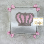 Bling Bling Princess Crown Baby Pillow - Pink