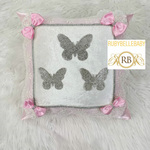 Bling Bling Butterfly Baby Pillow - Light Pink