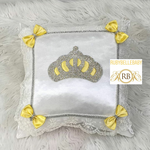 Bling Bling Princess Crown Baby Pillow - Yellow