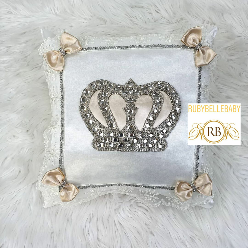 HRH Crown Pillow - Beige