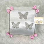 Bling Bling Butterfly Princess Baby Pillow - Pink Bow