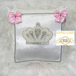 Bling Bling Jewel Crown Baby Pillow - Pink