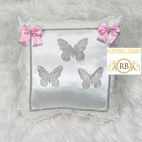 Bling Bling Princess Butterfly Baby Pillow - Pink