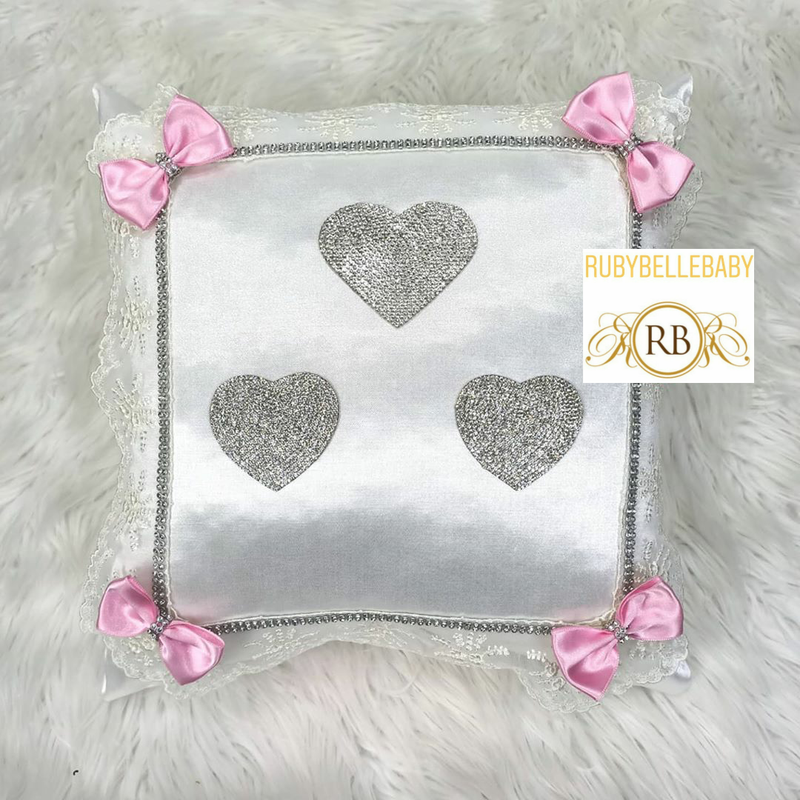 Bling Bling Princess Heart Baby Pillow - Pink