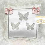 Bling Bling Princess Butterfly Baby Pillow - Blush