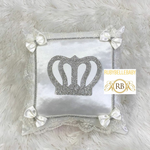 Bling Bling Prince Crown Baby Pillow - White