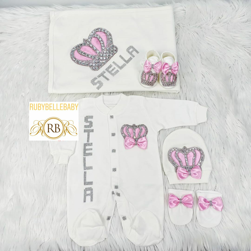 5pcs HRH Crown Set - Pink