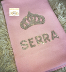 Bling Bling Rhinestone Crystal Crown Maxi Big Size Custom Baby Throw Blanket - All Colors
