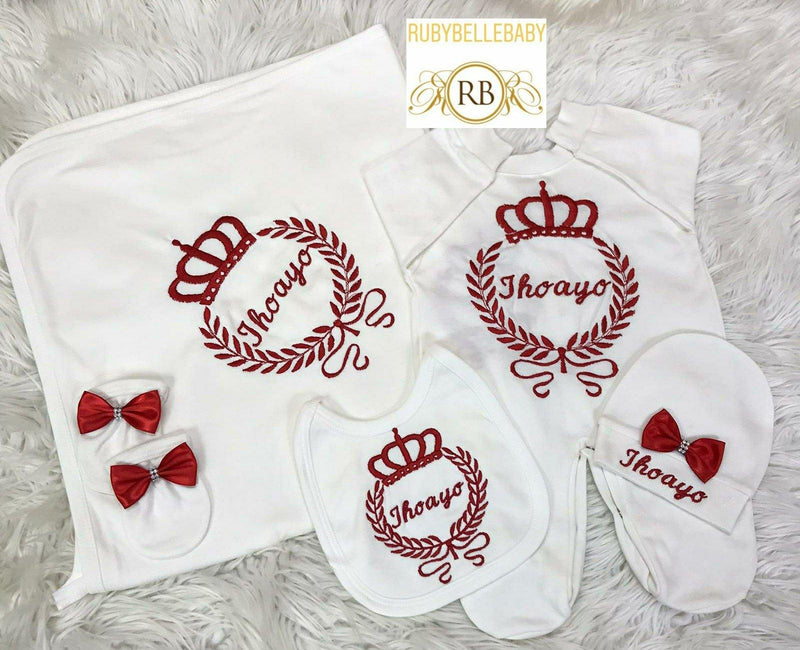 10pcs Embroidery Set - Red - RUBYBELLEBABY