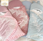 Customized Lace Edges Prince and Princess Swaddle - More Colors