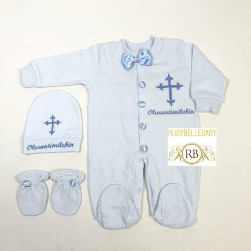 3pcs Trio Cross Set - Blue - RUBYBELLEBABY