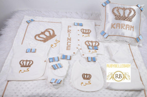 11pcs HRH Crown Set - Blue - RUBYBELLEBABY