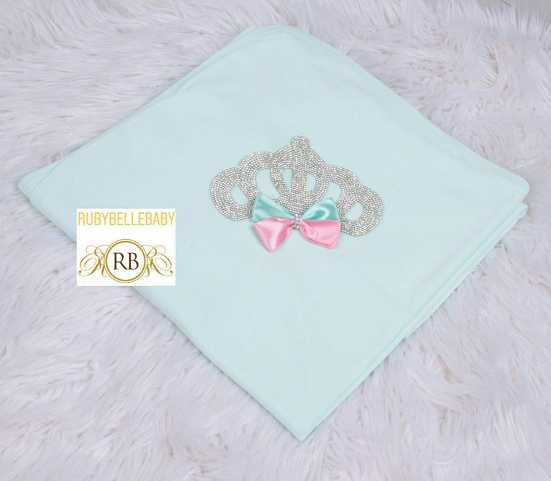 Princess Receiving Blanket - Mint Green