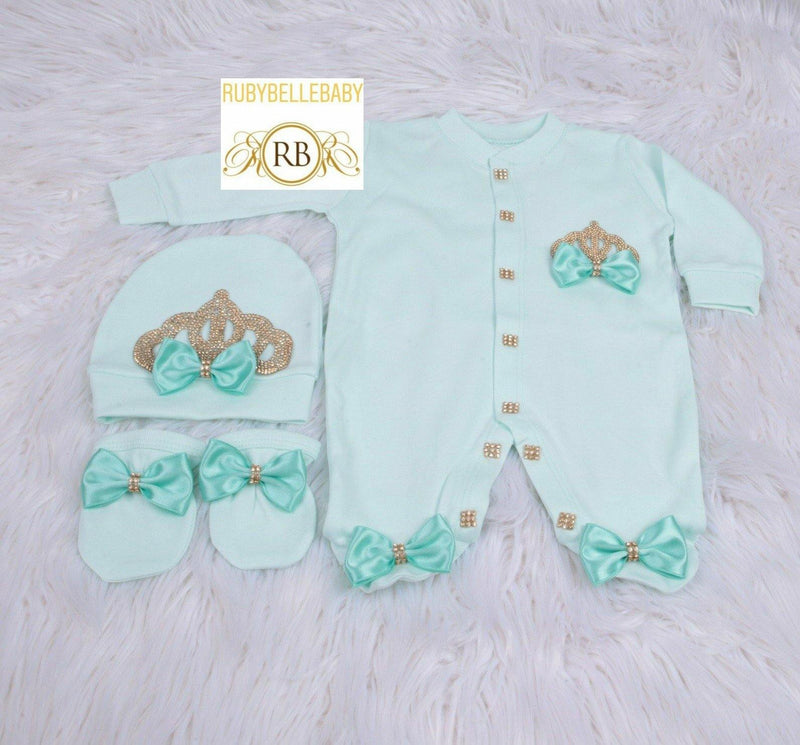 3pcs Princess Set - Mint Green