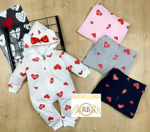 Loved Heart Infant Romper - RUBYBELLEBABY