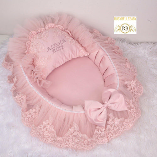Bella Newborn Bed - Blush - RUBYBELLEBABY