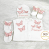 4pcs Butterfly Set - Blush - RUBYBELLEBABY