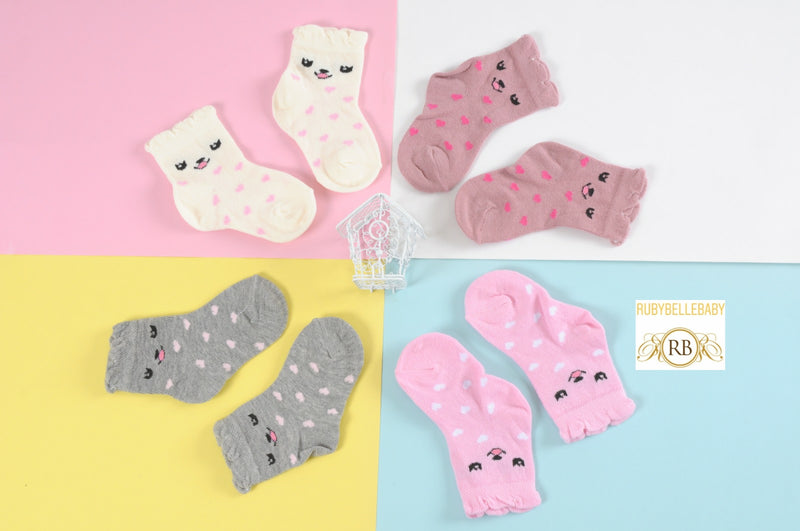 9pks Organic Baby Girl Socks