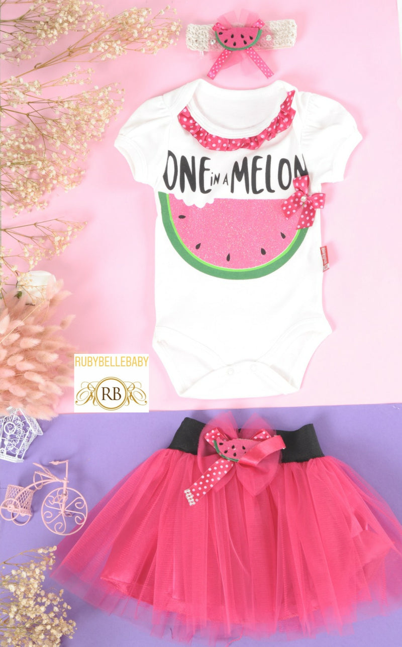 One in a Melon Summer Girl Set - Pink