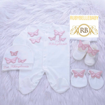 4pcs Butterfly Set - Blush