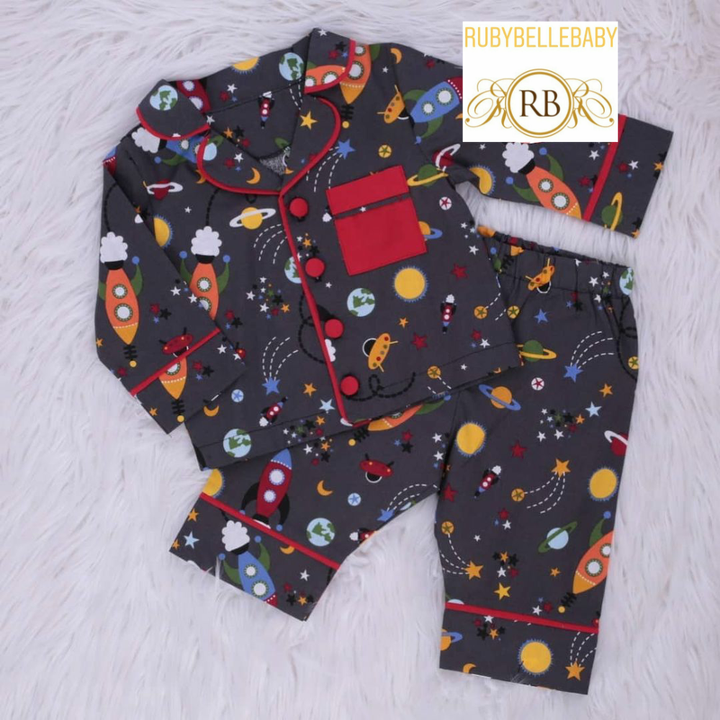 Space Pajamas Set