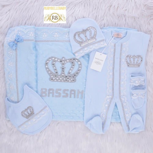 5pcs HRH Crown Set - Light Blue