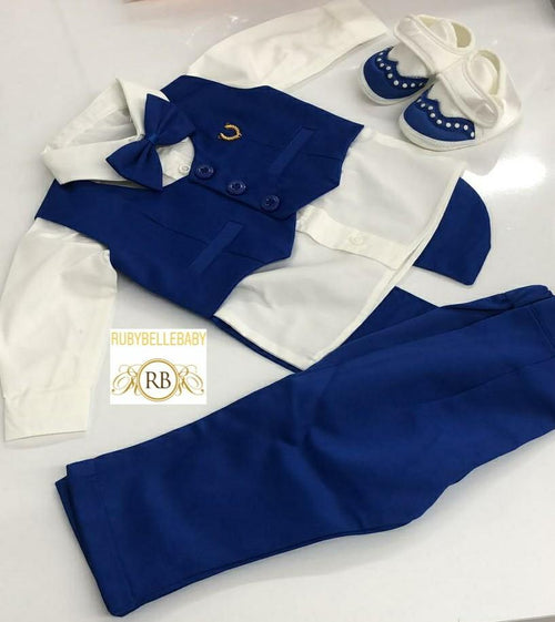 4pcs Mini Tux Set - Royal Blue