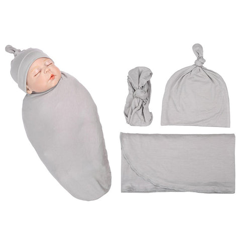 Bay Organic Swaddle Set - Grey