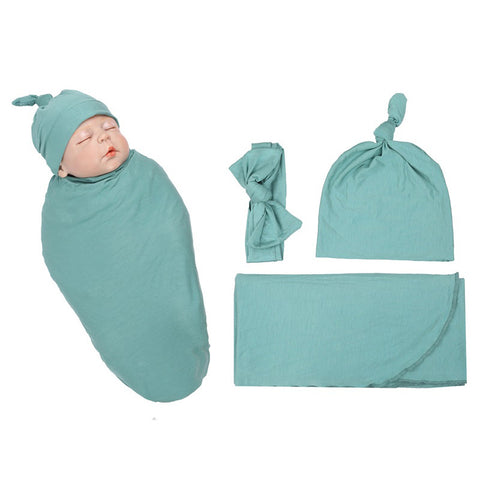 Bay Organic Swaddle Set - Mint Green